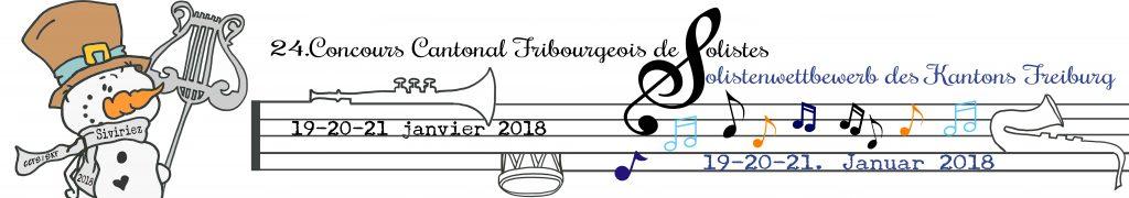 24ème Concours Cantonal Fribourgeois de Solistes, 19-20-21 janvier 2018